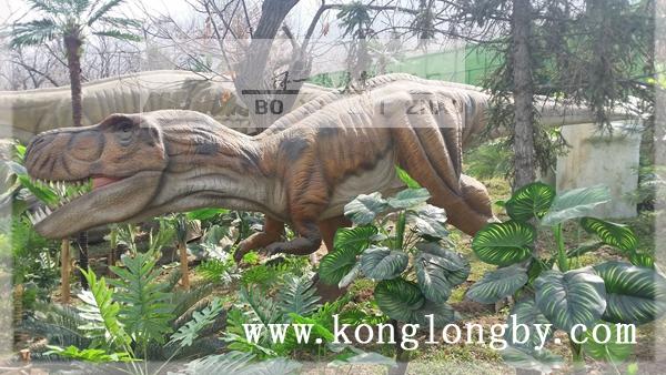8米电动恐龙打斗场景